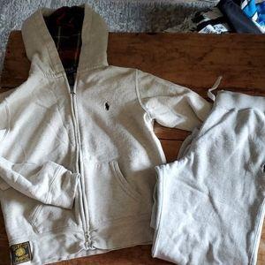 Ralph Loren Polo Sweatsuit 10 12 Medium
